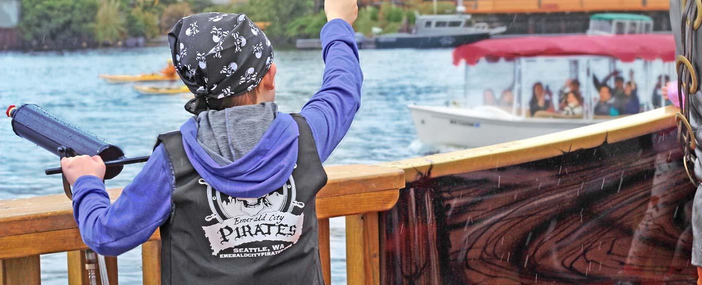 Emerald City Pirates - Kid Waving - Seattle