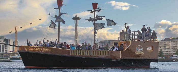 Emerald City Pirates Ship on Lake Union Seattle